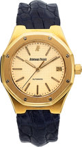 Timepieces:Wristwatch, Audemars Piguet, Ref: 14800BA, 18k Gold Royal Oak Automatic, Circa1994. ...