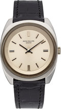 Timepieces:Wristwatch, Patek Philippe, Ref. 3579/1, Tonneau Steel Wristwatch, circa1970's. ...