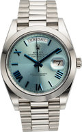 Timepieces:Wristwatch, Rolex Ref. 228206 Platinum Day-Date 40 President. ...