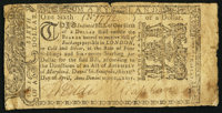 Maryland April 10, 1774 $1/6 Very Good-Fine
