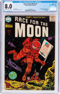 Golden Age (1938-1955):Science Fiction, Race For the Moon #3 (Harvey, 1958) CGC VF 8.0 Cream to off-whitepages....
