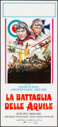 "Movie Posters:War, Aces High (Gold, 1977). Italian Locandina (12.5"" X 27.5""). War....."