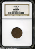 Patterns: , 1863 1C One Cent, Judd-299, Pollock-359, R.3, PR 63 Brown NGC. ...