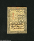 Colonial Notes:Pennsylvania, Pennsylvania October 1, 1773 20s Extremely Fine. Light handling isdetected on this 20 shilling note....