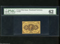 Fractional Currency:First Issue, Fr. 1228 5c First Issue PMG Uncirculated 62. This perforated Friedberg number is ten times scarcer than the straight edge Fr...