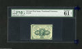 "Fractional Currency:First Issue, Fr. 1240 10c First Issue PMG Net Uncirculated 61. This scarce perforated note has the PMG comment ""adhesive residue on back...."