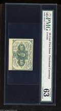 """Fractional Currency:First Issue, Fr. 1242 10c First Issue PMG Choice Uncirculated 63. PMG comments """"jumbo size bottom margin, exceptional paper quality.""""..."""