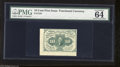 "Fractional Currency:First Issue, Fr. 1242 10c First Issue PMG Choice Uncirculated 64. PMG comments ""2 jumbo margins.""..."