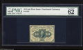 """Fractional Currency:First Issue, Fr. 1242 10c First Issue PMG Uncirculated 62. PMG states """"pinholes.""""..."""