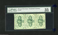 Fractional Currency:First Issue, Fr. 1242 10c First Issue Vertical Strip of Three. PMG Choice Very Fine 35. This strip of three 10 Cent notes could be descri...