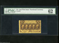Fractional Currency:First Issue, Fr. 1279 25c First Issue PMG Uncirculated 62. Perforated Fr. 1279s are many times scarcer than Fr. 1281s. The top edge for t...