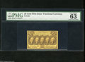"Fractional Currency:First Issue, Fr. 1281 25c First Issue PMG Choice Uncirculated 63. ""Nice colors"" are mentioned by PMG for this note...."