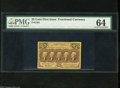 Fractional Currency:First Issue, Fr. 1281 25c First Issue PMG Choice Uncirculated 64. This is the variety with the ABC monogram on the back....