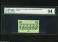 Fractional Currency:First Issue, Fr. 1312 50c First Issue PMG Choice Uncirculated 64. The slightest more bottom margin propels this Washington to the next gr...