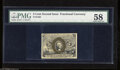 Fractional Currency:Second Issue, Fr. 1232 5c Second Issue PMG Choice About Unc 58. A broad corner fold is detected....