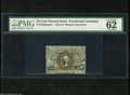 """Fractional Currency:Second Issue, Fr. 1283SP 25c Second Issue Narrow Margin Face Specimen PMG Crisp Uncirculated 62. PMG has added the comments, """"nice colors""""..."""