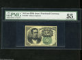Fractional Currency:Fifth Issue, Fr. 1264 10c Fifth Issue PMG About Uncirculated 55. A center foldis detected on this note. Fr. 1264s are up to 20 times sca...
