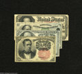 Fractional Currency:Fifth Issue, Fr. 1265 10c Fifth Issue VF-XF Fr. 1309 25c Fifth Issue AU Fr. 137950c Fourth Issue Dexter VG+ Fr. 1380 50c Fi... (4 notes)