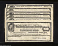 Miscellaneous:Other, Hoquaim, WA - Gillett's Drug Store 1¢, 2¢, 3¢, 4¢, 5¢, 10¢Copyright 1912 Here is a nice group of unissued Stork System of ...(6 notes)