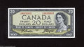 Canadian Currency: , BC41a $20 1954 The bottom margin exhibits a production fold. CrispUncirculated....