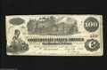Confederate Notes:1862 Issues, T39 $100 1862. This Cr.-294 note which exhibits crisp paper has acouple of Charleston stamps on the back. A couple of edge ...