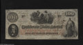 Confederate Notes:1862 Issues, T41 $100 1862. A couple of folds are found between the Calhounportrait and the left-hand edge on this Scroll 1 note. This e...