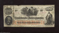 Confederate Notes:1862 Issues, T41 $100 1862. A notch is missing from the top edge of thisExtremely Fine Scroll 2 note....