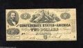 Confederate Notes:1862 Issues, T42 $2 1862. This Third Series Two has retained some snap. VeryGood+....