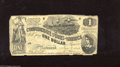 Confederate Notes:1862 Issues, T44 $1 1862. This is the grade the majority of these notes havesustained. Good contrasts are visible with a missing piece a...
