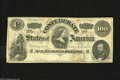 Confederate Notes:1862 Issues, T49 $100 1862. This CSA watermarked Lucy Pickens C-note is quitevivid with a couple small pinholes. A Cr.-348 hasn't appea...
