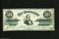 Confederate Notes:1862 Issues, T50 $50 1862. This Cr.-355 is very colorful and retains much snapwith no cancels noticed, but has several pinholes in the p...