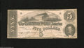 Confederate Notes:1862 Issues, T53 $5 1862. Lightly handled edges for the grade are found on thisexample. Fine, CC....