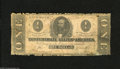 Confederate Notes:1862 Issues, T55 $1 1862. A large repair is found on the back. Good....