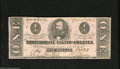 Confederate Notes:1863 Issues, T62 $1 1863. This note is crisp and clean with minimal handlingpresent on vibrant pink surfaces. It does exhibit a few pinh...