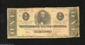 Confederate Notes:1863 Issues, T62 $1 1863. Many smaller denominations circulated extensively in the Confederacy. Very Good....