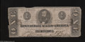 Confederate Notes:1863 Issues, T62 $1 1863. This Cr.-481 issue interestingly placed the periodsbefore the letters. This note is intact with minor edge nic...