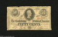 Confederate Notes:1863 Issues, T63 50 Cents 1863. This is a 2nd Series plate letter H example.Very Good....