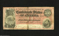 Confederate Notes:1864 Issues, T64 $500 1864. The center split on this former wallet piece is almost complete. Good....