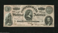 Confederate Notes:1864 Issues, T65 $100 1864. A tiny corner fold is not enough to drop this pretty note from the CU grade. It has three decent margins and ...