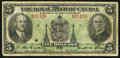 Canadian Currency, Montreal, PQ- The Royal Bank of Canada $5 Jan. 2, 1935 Ch. #630-18-02a. ...
