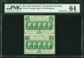 Fractional Currency:First Issue, Fr. 1312 50¢ First Issue Uncut Pair PMG Choice Uncirculated 64.....
