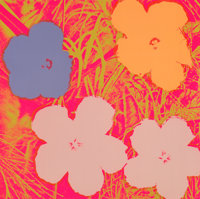 Andy Warhol (1928-1987) Untitled, from Flowers Portfolio, 1970 Screenprint in colors on w