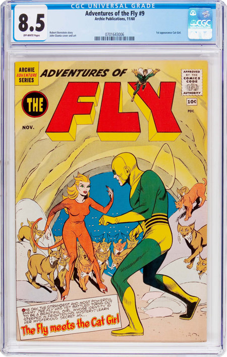Adventures of the Fly #9 (Archie, 1960) CGC VF+ 8.5 Off-white pages....