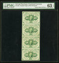 Fractional Currency:First Issue, Fr. 1242 10¢ First Issue Uncut Strip of Four PMG Choice Uncirculated 63 EPQ.. ...