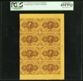 Fractional Currency:First Issue, Fr. 1230 5¢ First Issue Block of Eight Notes PCGS Extremely Fine 45PPQ.. ...