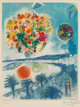 After Marc Chagall By Charles Sorlier Sunset, from Nice and the Côte D'Azur, 1967 Lithograph in colors on Ar