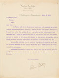 Autographs:U.S. Presidents, Calvin Coolidge Typed Letter Signed. ...