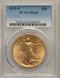 Saint-Gaudens Double Eagles: , 1913-D $20 MS62 PCGS. PCGS Population: (997/3199). NGC Census: (1260/2146). CDN: $1,350 Whsle. Bid for problem-free NGC/PCG...