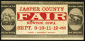 Obsoletes By State:Iowa, Newton, IA - Jasper County Fair Sept. 9-12, 1907. ...