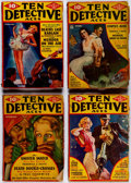 Pulps:Detective, Ten Detective Aces Box Lot (Ace Magazines, Inc., 1936-49)Condition: Average GD/VG....